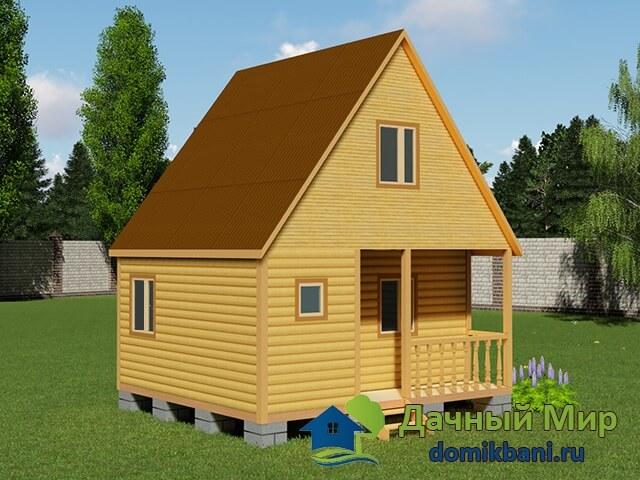Проект дома 6 на 5 из профилированного бруса