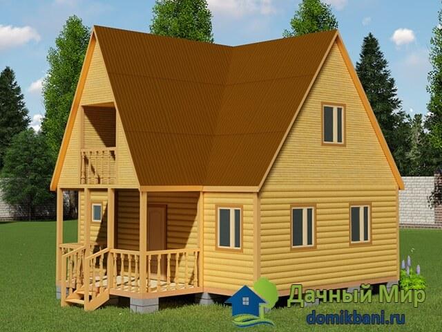 Дом 8х8 с балконом