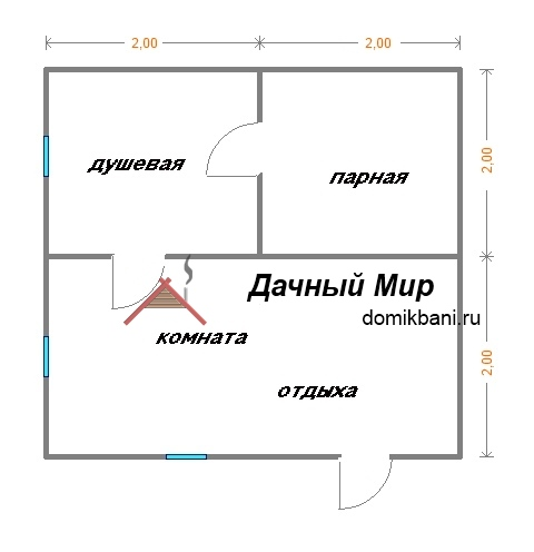 план баньки 4х4