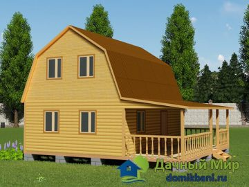 Проект дома 9х8 с мансардой