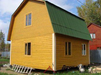 Дом с металлочерепицей
