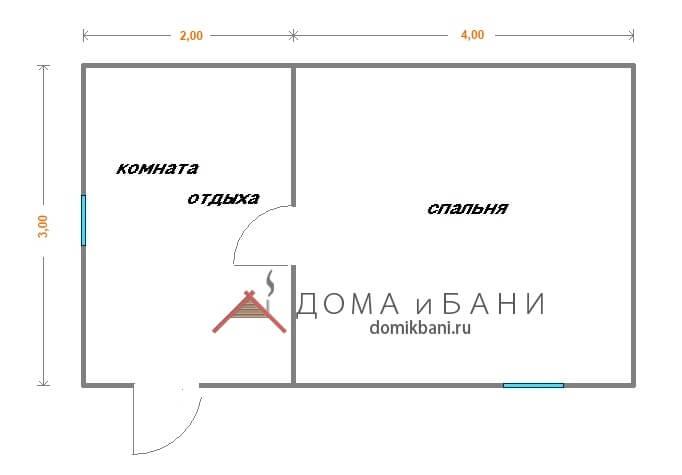 план маленького дачного домика