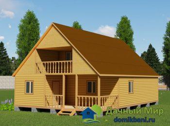 Проект брусового дома 9х12