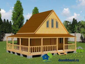 Летний домик с террасой 7х6