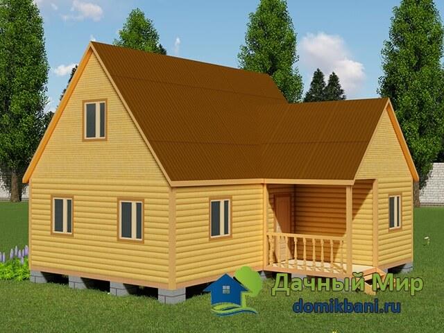 Проект углового дома 8х9