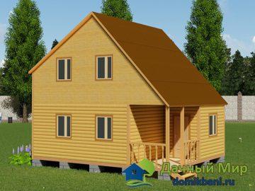 Дом 8х6 из бруса