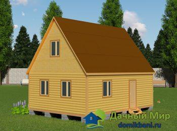 Деревянный дом 6х8