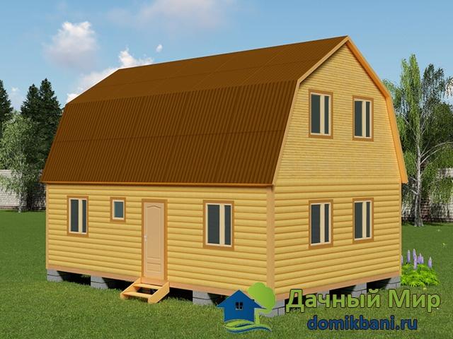 Проект дома 6х9 с мансардой