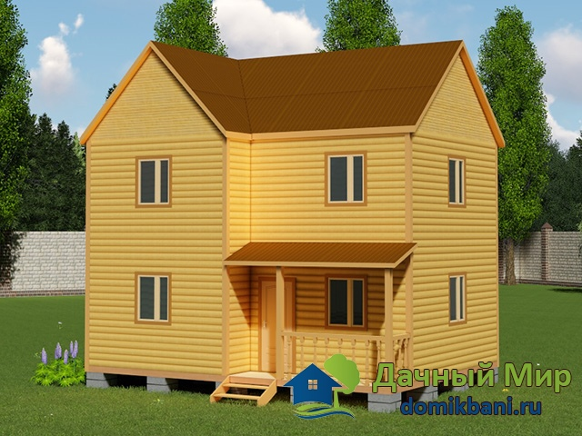 Проект двухэтажного дома 6х8