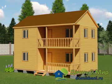 Проект двухэтажного дома 6х9