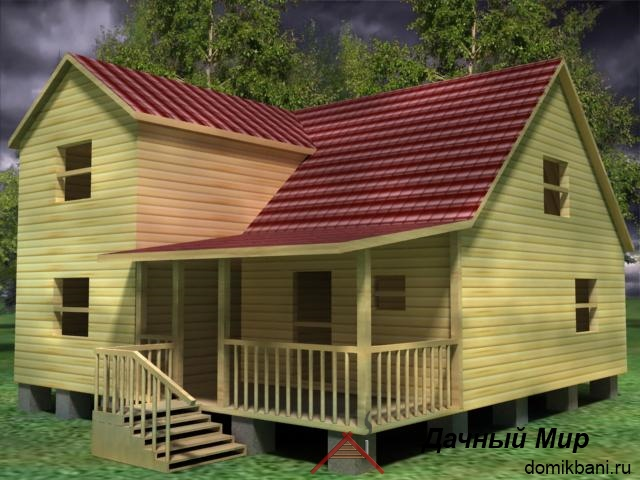Проект дома из сруба 10х10
