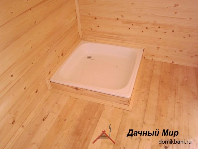 Вид бани изнутри