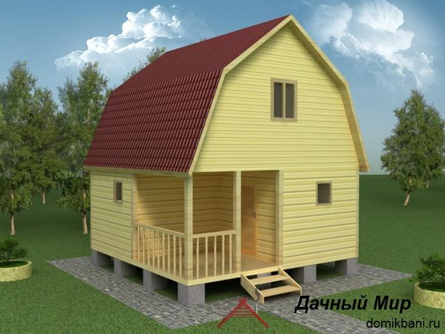 Деревянная баня с комнатой отдыха и спальней