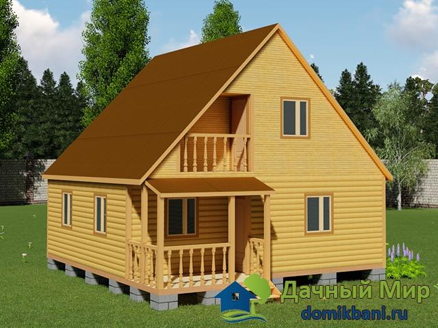 Деревянный дом 8х9