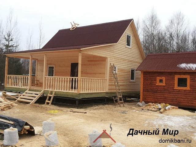 Построили деревянный дом в Выборге
