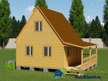 Дом из профилированного бруса 8х6
