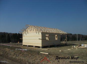 Строительство сруба из бруса в Талдоме