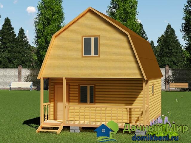 Проект двухэтажной бани 6х6