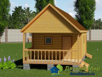 Проект бани 8х4 с дровяником