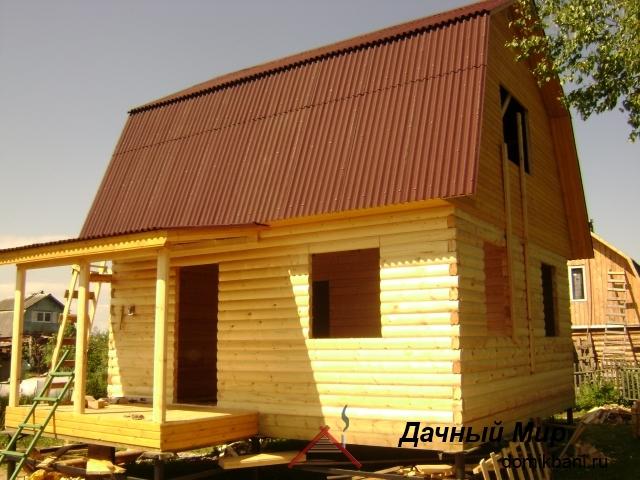 фото сруба дома в Дмитрове