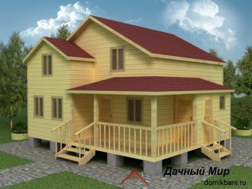 Дачный дом 8х8