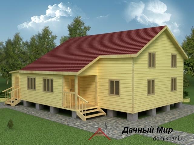 Деревянный дом 9 на 12
