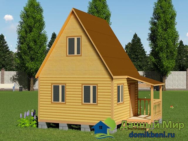 Дом 4х5 из бруса
