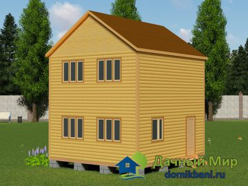 Двухэтажный дом 6х6