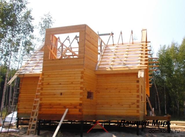 Строительство дома из бруса в Одинцове, фотографии построенного