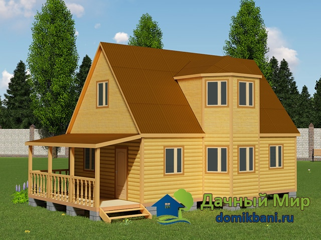 Деревянный дом 11х7