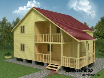 Деревянный дом 9х11