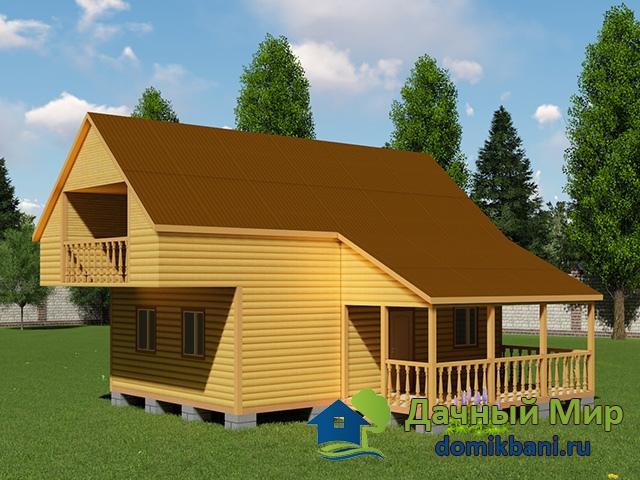 Деревянный дом 9х9