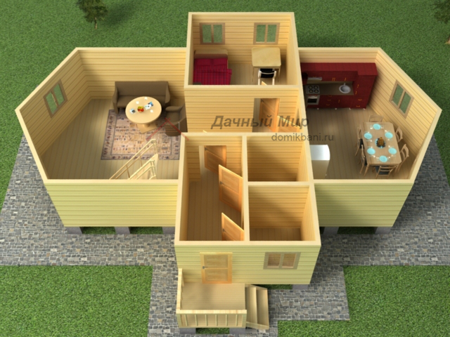 Дом 10×14 из бруса