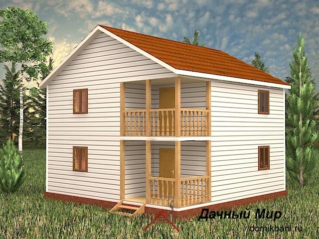 Каркасный дом 8 на 8