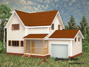 Каркасный дом с 4 спальнями