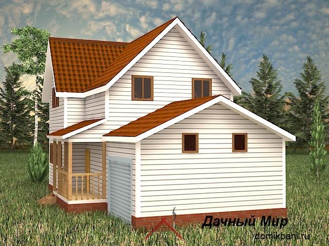 каркасный дом с гаражом 8 на 12