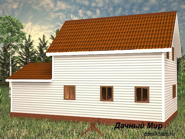 каркасный дом с гаражом и мансардой 8 на 12