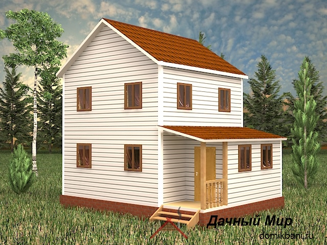 Двухэтажный щитовой дом