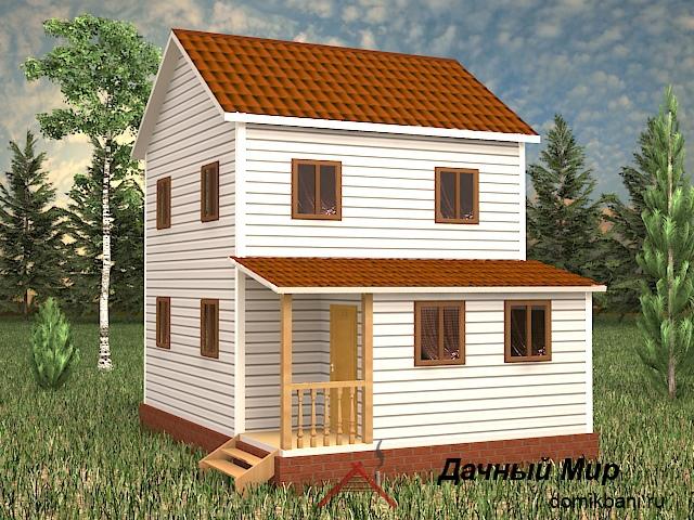 Двухэтажный каркасный дом 6 на 8