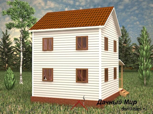 каркасный дом в два этажа 6 на 8