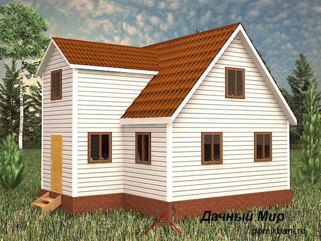 Каркасный дом 6х8
