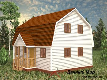 Каркасный дом 7х9 с мансардой