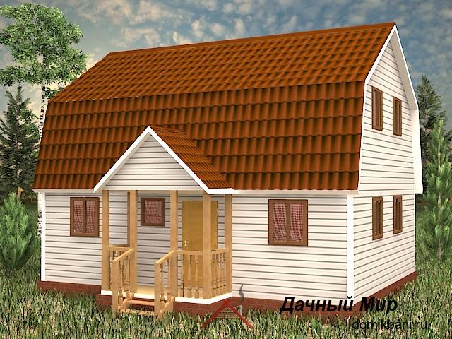 каркасный дом 7 на 9