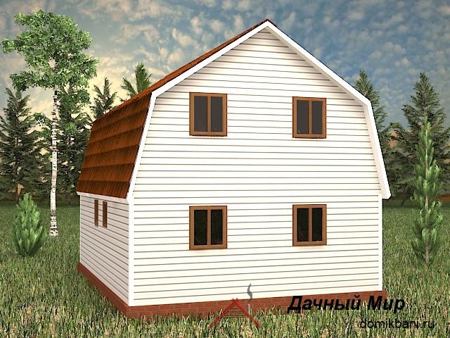 каркасный дом 7 на 9 с мансардой