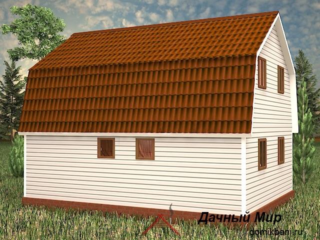 двухэтажный каркасный дом 7 на 9