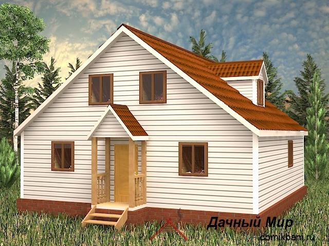Щитовой дом 9х9 с мансардой