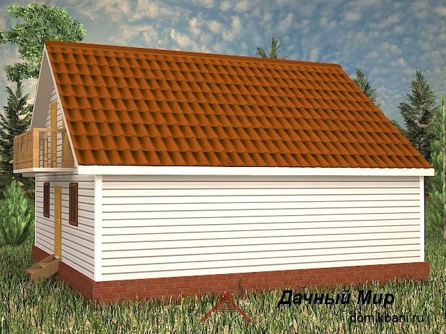 каркасный дом 9 на 9 с мансардой