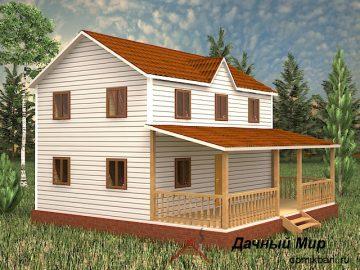 Щитовой зимний дом