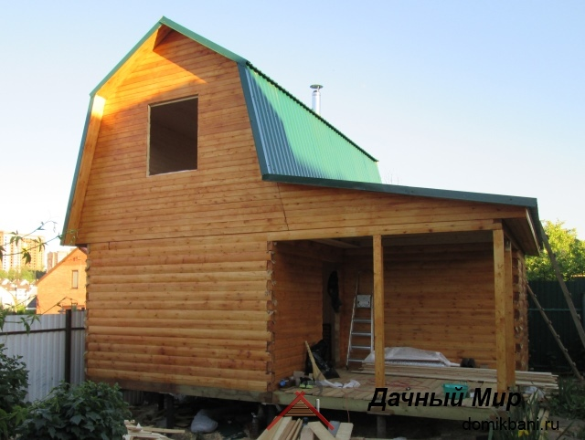 Дом 5х6 из бруса (фотоотчет)