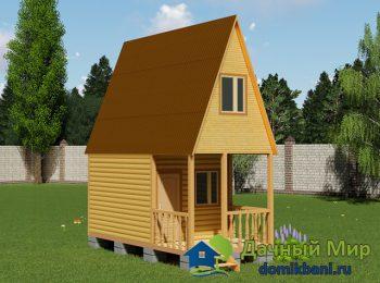 Садовый домик с мансардой